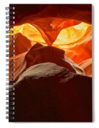 Yellow Eyes Of The Owl Spiral Notebook