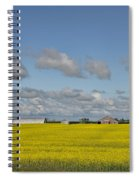 Yellow Fields And Blue Clouds Spiral Notebook