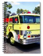 Yellow Fire Truck Spiral Notebook