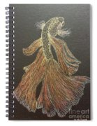 Yellow Fish Spiral Notebook