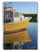 Yellow Fishing Boat Early Morning Spiral Notebook