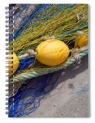 Yellow Floats Spiral Notebook