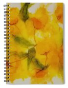 Yellow Floral Spiral Notebook