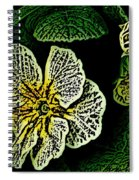 Yellow Flower Woodcut Spiral Notebook