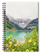 Yellow Flowers At Lake Louise Spiral Notebook