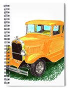 1932 Yellow Ford Hot Rod Coupe Spiral Notebook