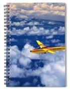 Yellow Glider Spiral Notebook