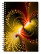Yellow Gold Red Decorative Abstract Art Spiral Notebook