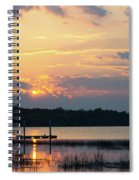 Yellow Gold Sunset Tapestry Spiral Notebook