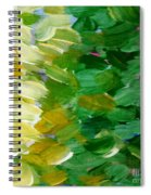 Yellow Green - Abstract Spiral Notebook