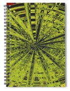 Yellow Green Black Abstract Spiral Notebook