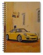 Yellow Gt3 Porsche Spiral Notebook