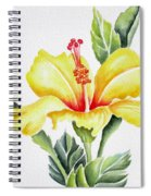 Yellow Hibiscus Spiral Notebook