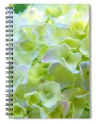 Yellow Hydrangea Flowers Art Prints Baslee Troutman Spiral Notebook