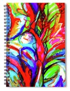 Yellow Iris Abstract Spiral Notebook