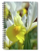 Yellow Irises Flowers Iris Flower Art Print Floral Botanical Art Baslee Troutman Spiral Notebook