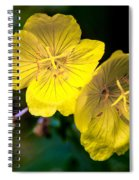 Yellow Is Gold Among The Flowers Spiral Notebook