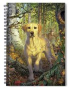Yellow Lab In Fall Spiral Notebook