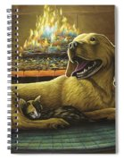Yellow Lab With Kitten Spiral Notebook
