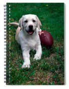Yellow Labrador Retriever Puppy Spiral Notebook