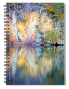 Yellow Lake Abstract Spiral Notebook