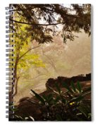 Yellow Leaves In The Mist Spiral Notebook