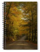 Yellow Leaves Road Spiral Notebook