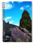 Yellow Lichen Spiral Notebook