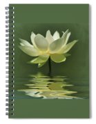 Yellow Lily With Reflections Spiral Notebook