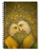 Yellow Lovers Spiral Notebook