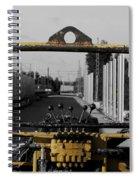 Yellow Machine Spiral Notebook