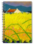 yellow Meadow Ireland Spiral Notebook