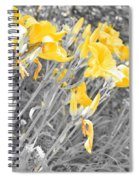 Yellow Moment In Time Spiral Notebook
