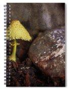Yellow Mushroom Spiral Notebook