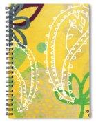Yellow Paisley Garden Spiral Notebook