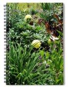 Yellow Peonia Spiral Notebook