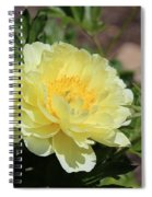 Yellow Peony Spiral Notebook