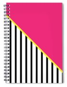 Yellow Pink And Black Geometric 2 Spiral Notebook