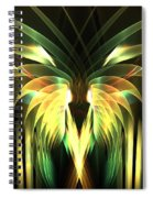 Yellow Plumes Spiral Notebook