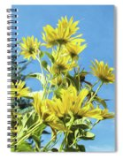 Yellow Posies Gazing At The Sky  Spiral Notebook