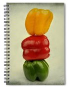 Yellow Red And Green Bell Pepper Spiral Notebook