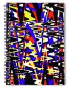 Yellow Red Blue Black And White Abstract Spiral Notebook