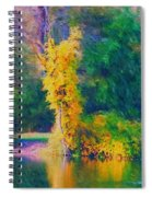 Yellow Reflections Spiral Notebook