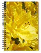 Yellow Rhodies Floral Brilliant Sunny Rhododendrons Baslee Troutman Spiral Notebook