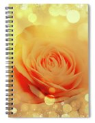 Yellow Rose And Joy Spiral Notebook