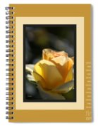 Yellow Rose Bud Dreams With Design Spiral Notebook