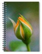 Yellow Rose Bud - Rose Bud Spiral Notebook
