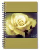 Yellow Rose Smoky Misty Look Spiral Notebook