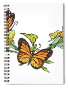 Yellow Roses And Monarch Butterflies Spiral Notebook