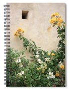 Yellow Roses And Tiny Window At Carmel Mission Spiral Notebook